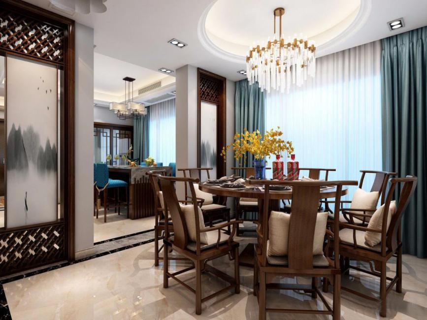 新中式装修要多少钱?20万!客厅电视墙超级漂亮!