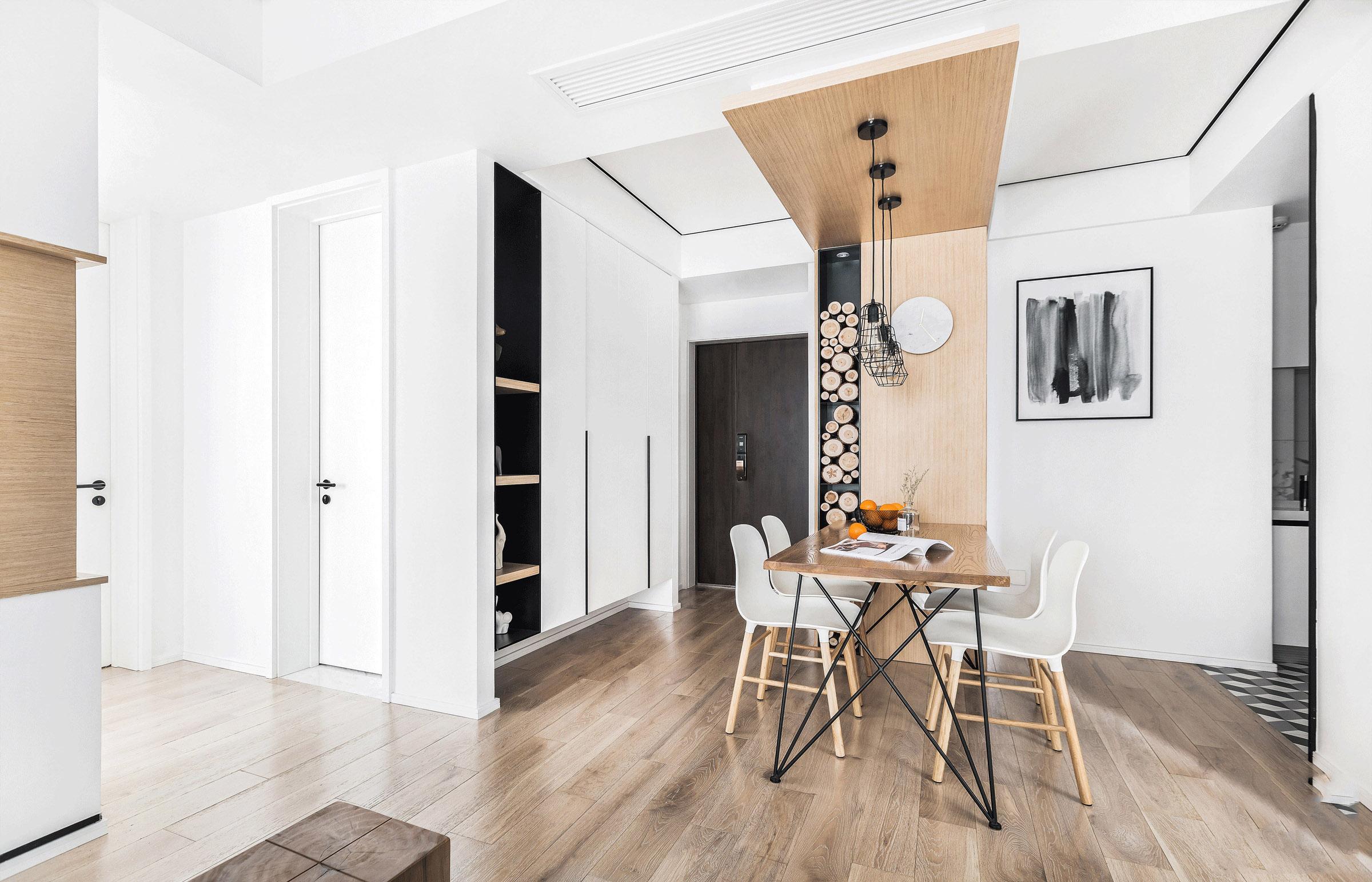 88平方的2房2廳原木色的家清新雅致