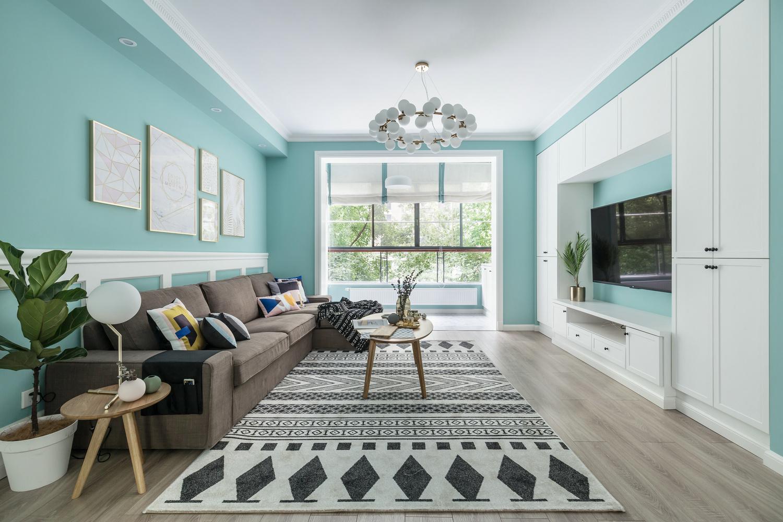 三房兩廳清新裝修風格,Tiffany藍居然可以這么好看!